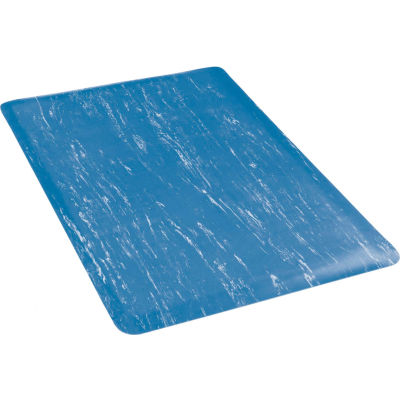 "Apache Mills K-Marble Foot™ Anti-Fatigue Mat 1/2"" Thick 2' x Up to 60' Blue"