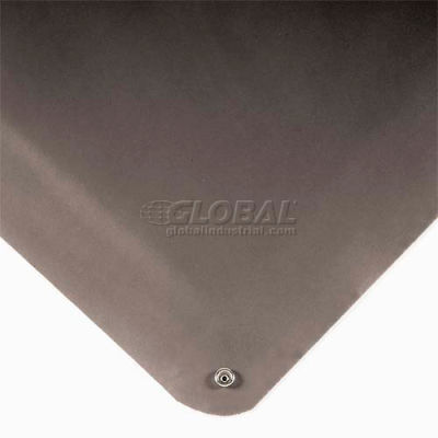 """Wearwell® Electrically Conductive Smooth Mat 9/16"""" Thick 3' x 5' Black"""