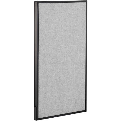 """Interion® Office Partition Panel, 24-1/4""""W x 42""""H, Gray"""