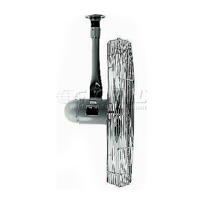 "TPI 30"" Industrial Ceiling Mount Fan, 2 Speed, 5400 CFM, 120V, 1/3 HP, Single Phase, Gray"