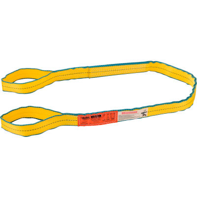 Global Industrial™Sling, Eye & Eye, 6 Ft L x 2 In W, 6400/5000/12800 Lbs Cap