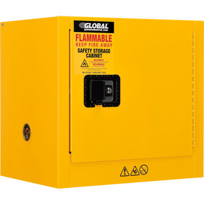 "Global Industrial™ Flammable Cabinet, Manual Close Single Door, 6 Gallon, 23""Wx18""Dx22""H"