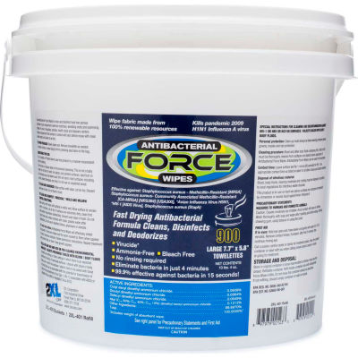 2XL Surface Safe Alcohol & Bleach Free Disinfecting Wipe Refill, 900 Wipes/Bucket, 2/Case - 2XL-400