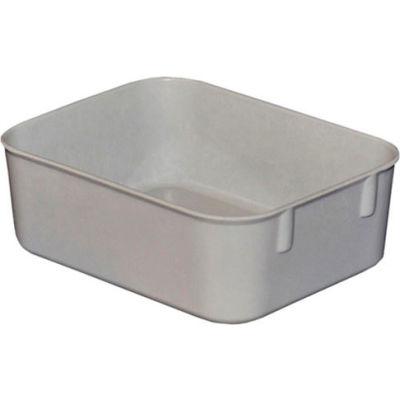 "Molded Fiberglass Toteline Nesting Tote 921108 - 6-1/8 ""L x 4-7/8""W x 2-1/8""H, Gray - Pkg Qty 10"