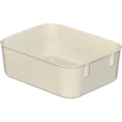 "Molded Fiberglass Toteline Nesting Tote 921108 - 6-1/8 ""L x 4-7/8""W x 2-1/8""H, White"
