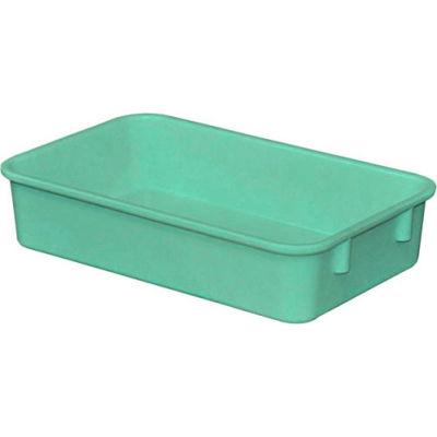 "Molded Fiberglass Toteline Nesting Tote 922108 - 9-3/4""L x 6-1/8""W x 2-1/8""H, Green"