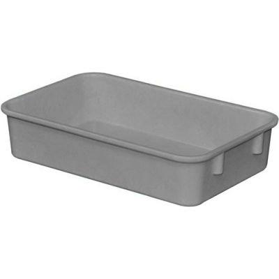 "Molded Fiberglass Toteline Nesting Tote 922108 - 9-3/4""L x 6-1/8""W x 2-1/8""H, Gray - Pkg Qty 6"