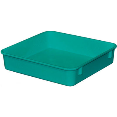 "Molded Fiberglass Toteline Nesting Tote 924108 - 9-3/4""L x 9-1/4""W x 2-1/8""H, Green"