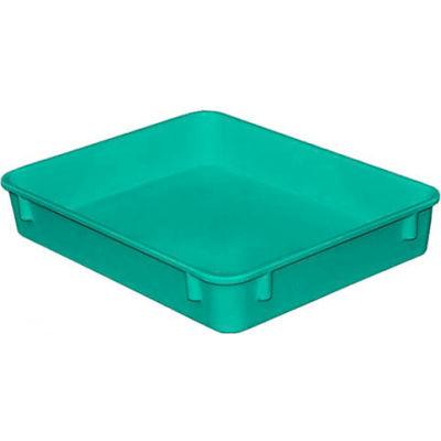 "Molded Fiberglass Toteline Nesting Tote 930108 - 12-3/8""L x 9-3/4""W x 2-1/8""H, Green"