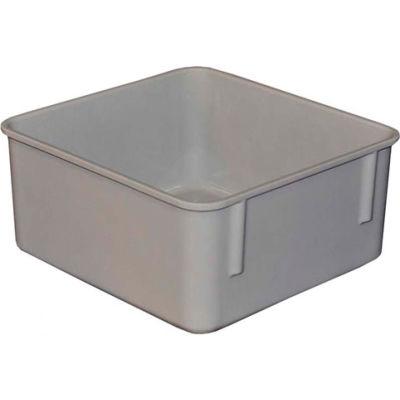 "Molded Fiberglass Toteline Nesting Tote 923108 - 9-3/4""L x 9-1/4""W x 4-1/2""H, Gray"