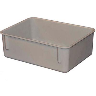 "Molded Fiberglass Toteline Nesting Tote 920108 - 11-3/4""L x 8-3/4""W x 4-1/8""H, Gray"