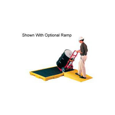 Eagle 1686 6 Drum Spill Containment Platform - Yellow with No Drain
