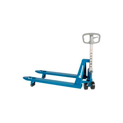 Bishamon® BS-55 Blue Label™ Narrow Fork Pallet Jack Truck 5500 Lb. Capacity 21 x 48