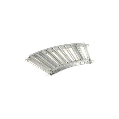 "Omni Metalcraft 1.9"" Dia. Steel Roller Conveyor Curved Section GPHC1.9X16-12-3-45"