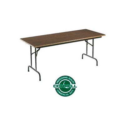 "Correll Folding Table - Laminate - 30"" X 60"" - Walnut"