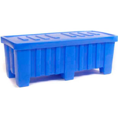 """Forkliftable Bulk Shipping Container with Lid - 51-1/2""""L x 22-1/2""""W x 19""""H, Blue"""