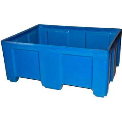 """Myton Forkliftable Bulk Shipping Container SO-5038-2 No Lid - 49-1/2""""L x 37-1/2""""W x 21-1/2""""H, Black"""