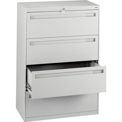 """Deluxe Fixed Front Lateral File Cabinet 36""""W X 52""""H - Putty"""