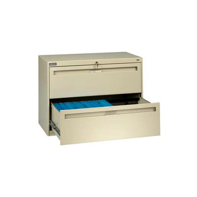 "Deluxe Fixed Front Lateral File Cabinet 42""W X 28""H - Putty"