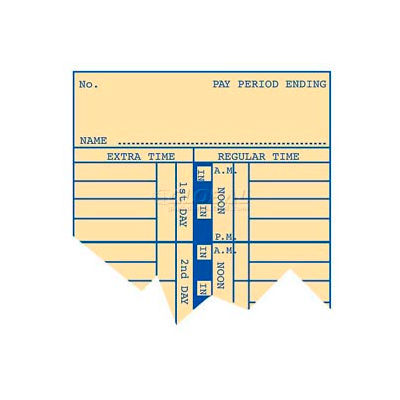 """Weekly Time Cards 10-1/2""""H For Use With Time Recorder"""