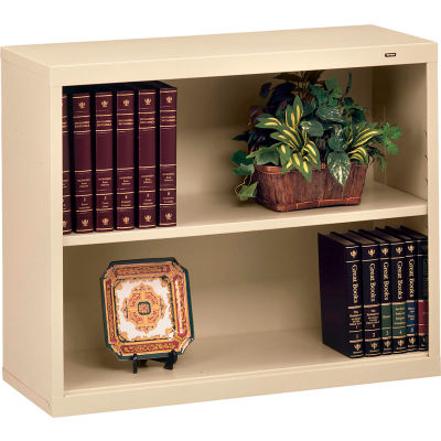"Welded Steel Bookcase 28""H - Putty"