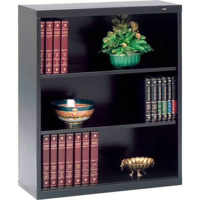 "Welded Steel Bookcase 40""H - Black"