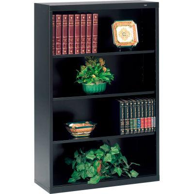 "Welded Steel Bookcase 52""H - Black"