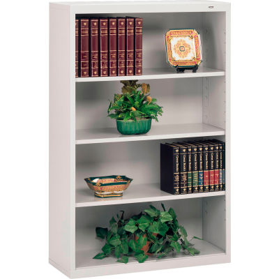 "Welded Steel Bookcase 52""H - Light Gray"