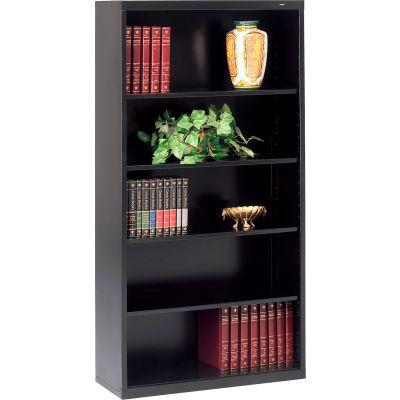 "Welded Steel Bookcase 66""H - Black"