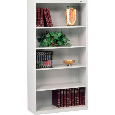 "Welded Steel Bookcase 66""H - Light Gray"