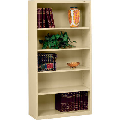 """Welded Steel Bookcase 66""""H - Sand"""
