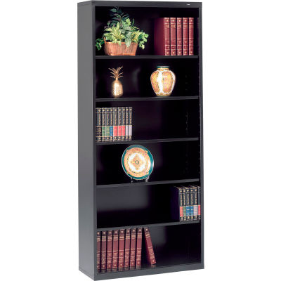 "Welded Steel Bookcase 78""H - Black"
