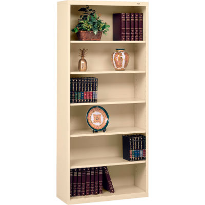 "Welded Steel Bookcase 78""H - Putty"