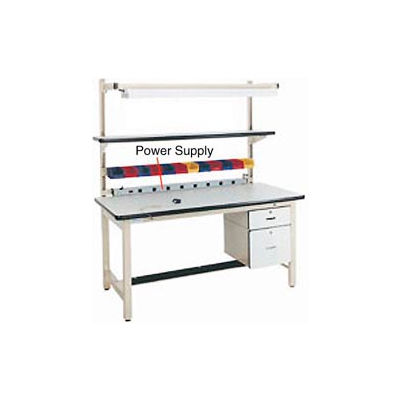 "72""L Power Supply with Mounting Rail - Beige"