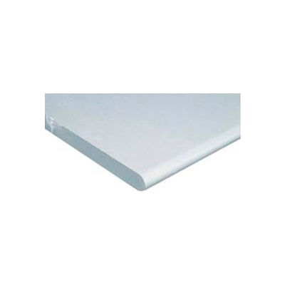 """60""""W x 36""""D x 1-1/4"""" Thick ESD Square Edge Workbench Top - White"""
