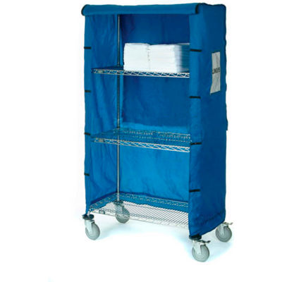 "Nexel® Nylon Cover, 60""W x 18""D x 74""H, Blue"