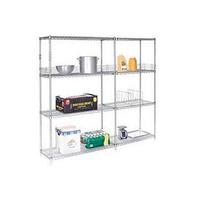 "Nexel® Poly-Z-Brite® Wire Shelving Add-On 54""W x 21""D x 63""H"