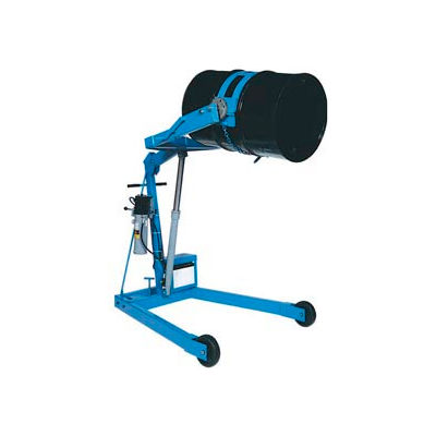 """Morse® Mobile Drum Lift and Tilt 400A-60 72"""" High for 55 Gal Drum - Hand Crank Rotation"""