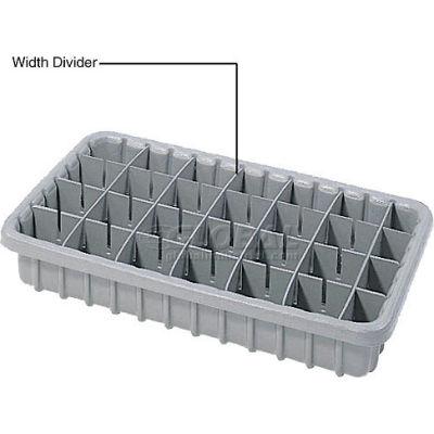Dandux Length Divider 50P0016047 for Dividable Nesting Box 50P1805050, 50P1811050, Gray - Pkg Qty 6