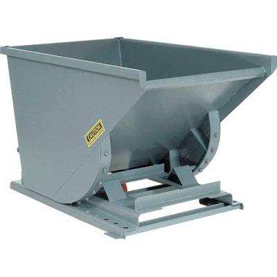 Global Industrial™ Heavy Duty Self Dumping Forklift Hopper, 1/2 Cu. Yd., 6000 Lbs, Gray