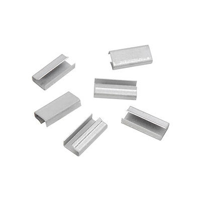 """Pac Strapping Metal Strapping Seals For 1/2"""" Poly Strapping, 1000 Pack"""