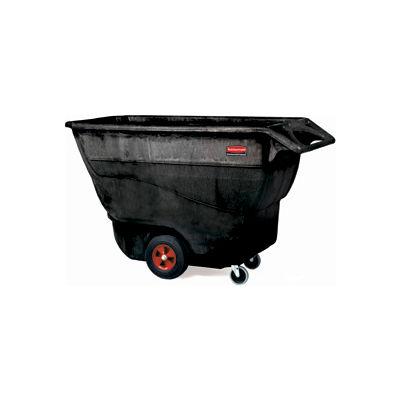 Rubbermaid® Standard Duty Structural Foam Plastic Tilt Truck, 1 Cu. Yd. Cap,1250 Lbs. Cap,Black