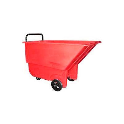 Bayhead Products Light Duty Plastic Tilt Truck, 1/3 Cu. Yd. Cap, 275 Lbs. Cap, Red