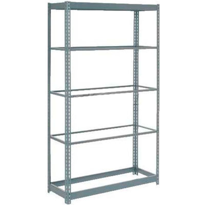 """Global Industrial™ Heavy Duty Shelving 48""""W x 12""""D x 84""""H With 5 Shelves - No Deck - Gray"""