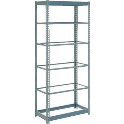 """Global Industrial™ Heavy Duty Shelving 48""""W x 18""""D x 60""""H With 6 Shelves - No Deck - Gray"""