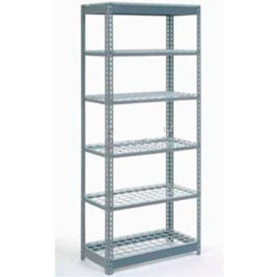 """Global Industrial™ Heavy Duty Shelving 48""""W x 24""""D x 60""""H With 6 Shelves - Wire Deck - Gray"""