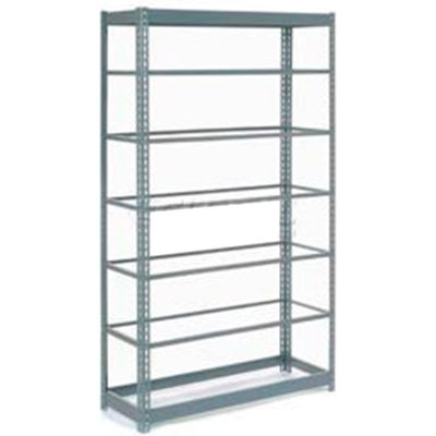 """Global Industrial™ Heavy Duty Shelving 48""""W x 24""""D x 84""""H With 7 Shelves - No Deck - Gray"""