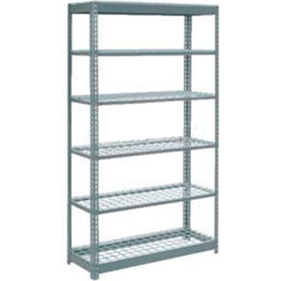 """Global Industrial™ Heavy Duty Shelving 48""""W x 12""""D x 84""""H With 6 Shelves - Wire Deck - Gray"""