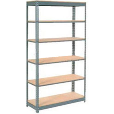 """Global Industrial™ Heavy Duty Shelving 48""""W x 12""""D x 96""""H With 6 Shelves - Wood Deck - Gray"""