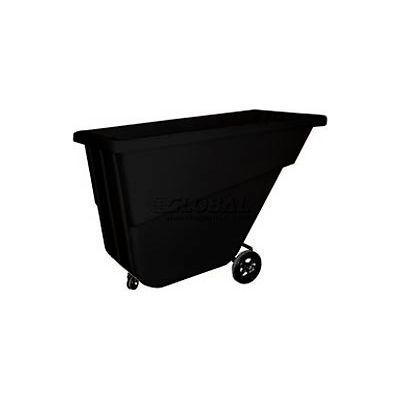 Bayhead Products Light Duty Plastic Tilt Truck, 5/8 Cu. Yd., 300 Lbs. Cap, Black